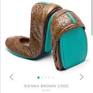 Sienna Brown Croc Tieks- Used